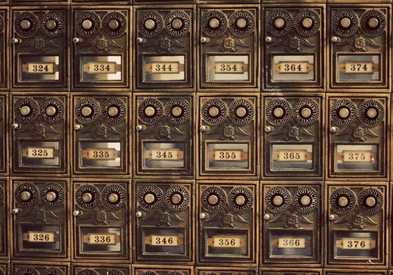 Items Similar To Still Life Photograph, Old Mailboxes