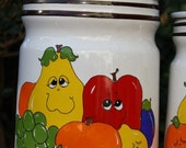 CANISTER SET - Nancy Lynn Drunken Fruit Set of 3 lidded Canisters - NowSoLA