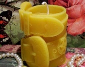 Beeswax  Belt And Buckle Leather Design Candle