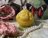 Beeswax Fat Traveling Buddha Candle