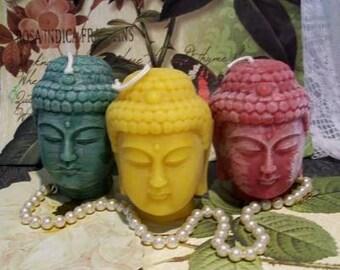 Beeswax Yellow Buddha Head Candle Yoga