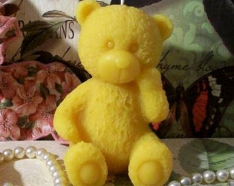 Beeswax Teddy Bear Candle