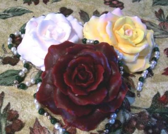 Silicone Rose Mold Flower Soap Candle Mold Large
