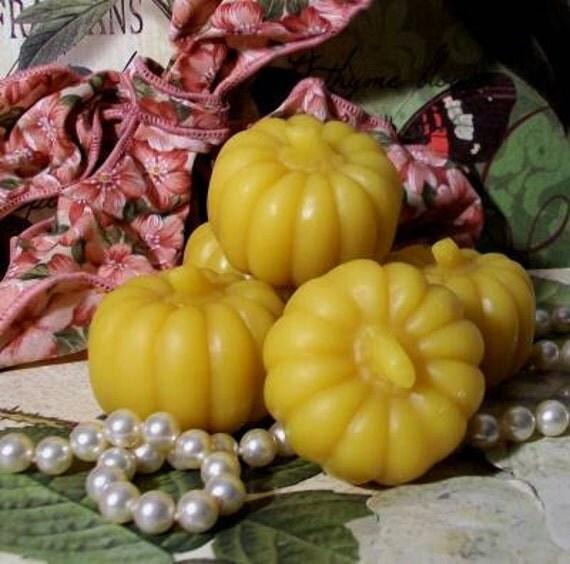 3 Beeswax Pumpkin Patch Candles
