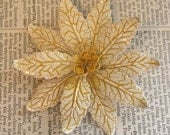 Gold\/Ochre Poinsettia Pin