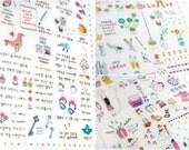 Super Cute Kawaii Sticker Sheet Little Daily Deco with 6 Full Sheets of Cuteness