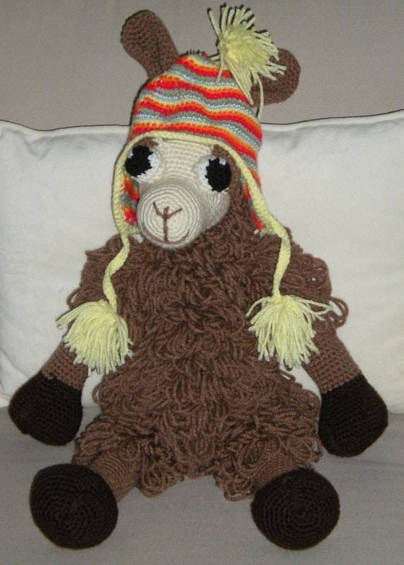 Crochet Llama Amigurumi Pattern : Hand Crocheted Amigurumi Llama