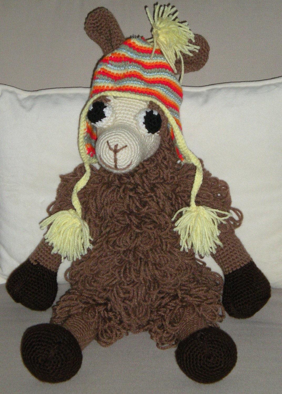 Amigurumi Llama Free Pattern : Hand Crocheted Amigurumi Llama