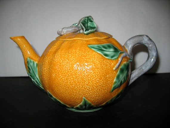 Vintage valencia orange teapot - Vintage valencia ...