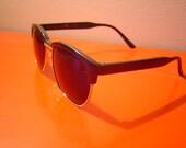 50's hornrimmed sunglasses in DARK black