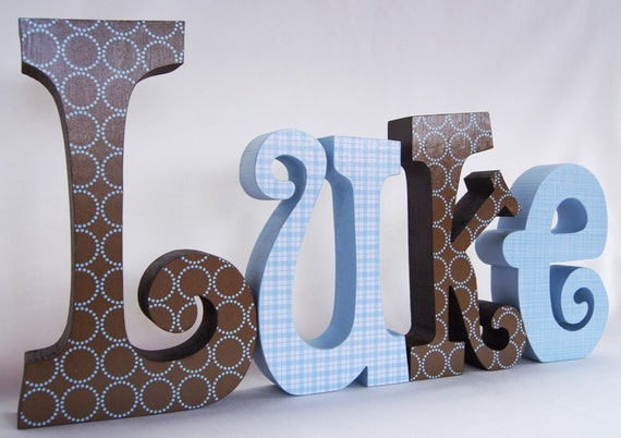Wooden Letters for Baby Boy Decor