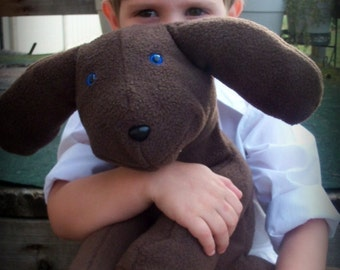 Boys Best Friend Brown Stuffed Dog