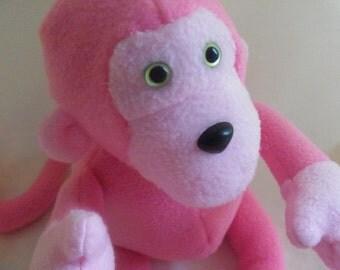 Pink Stuffed Monkey Toy