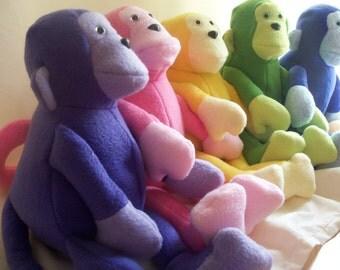 Purple Stuffed Monkey Toy