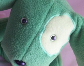Green Fern Stuffed Dog