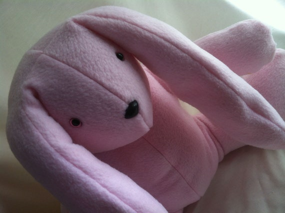 Large Pink Easter Stuffed Bunny