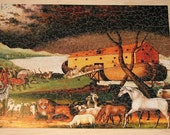 Edward Hicks Noahs Ark HAND CUT Jigsaw Puzzle (575-600 pieces) with 67 FIGURALS - Made to Order
