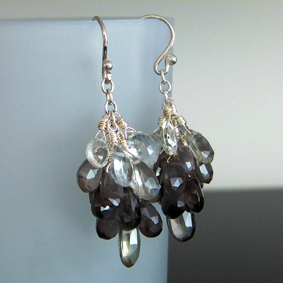 SALE - Sillimanite and Sterling Silver Earrings