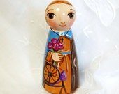 St Seraphina Wooden Catholic Saint Doll Toy - Made to Order