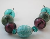Fish Scale Type and Hollow Lampwork Bead Set