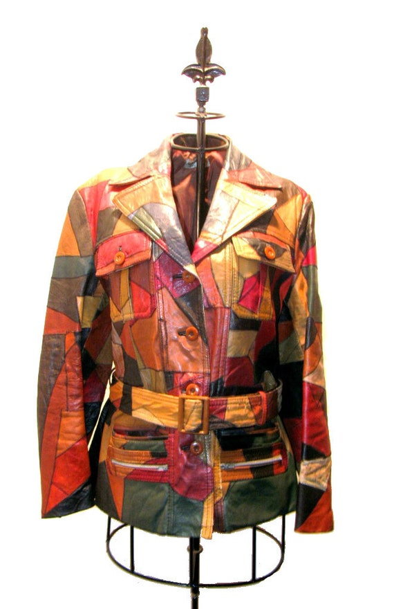"Vintage 1970's ""Foxy Brown"" Patchwork Leather Jacket"