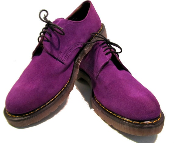 vintage s fluevog purple suede gibson shoes w dr