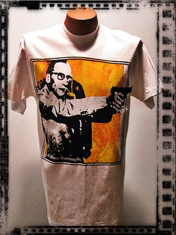 Vintage Men's 1980's William S. Burroughs T-Shirt large