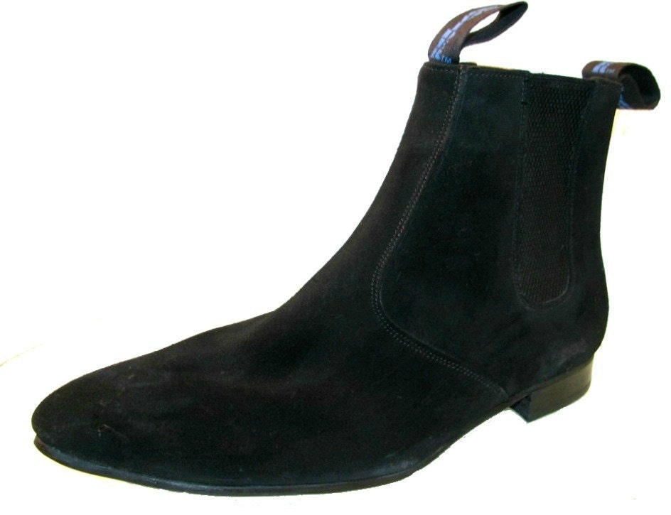 vintage chelsea boots from mens suede black suede