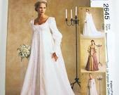McCall's Wedding Dress Pattern 2645 - Misses' Renaissance Bridal Gowns - SZ 10/12/14