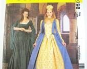 Sz 10/12/14 McCall's Costume Pattern 2798 - Misses' Elizabethan Costumes