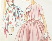 Vintage Dress Pattern - McCall's 5809 - Vtg 1961 Misses' Sleeveless Dress & Jacket - SZ 18/Bust 38