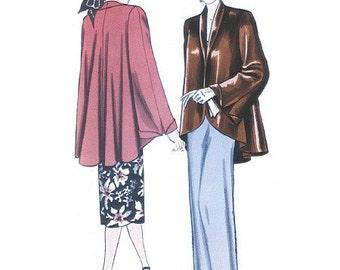 Sz 8/10/12/14 - Misses' Open Front Swing Jacket - 1948 Reissued Pattern - Butterick Retro Jacket Pattern B5144
