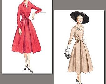 Sz 18/20/22 - Misses' Flared, Front Wrap & Tie Dress - Vogue Vintage Model 1952 - Vogue Dress Pattern 2401