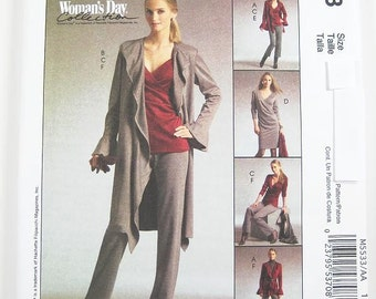 McCall's M5533 - Misses' Jacket, Top, Dress and Pants - SZ 6/8/10/12