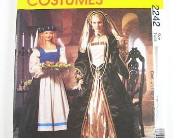 McCall's Costume Pattern 2242 - Misses' Renaissance Costumes - SZ 4/6/8
