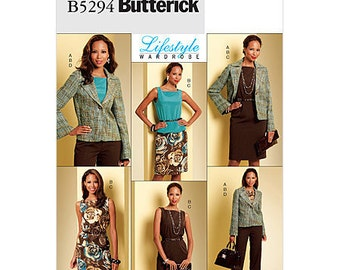 Sz 16/18/20/22 - Butterick Wardrobe Pattern B5294 - Misses' Jacket, Top, Skirt & Pants