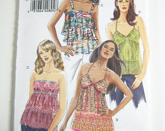 Vogue Top Pattern V8250 - Misses' Top in 4 Variations - Sz 4/6/8