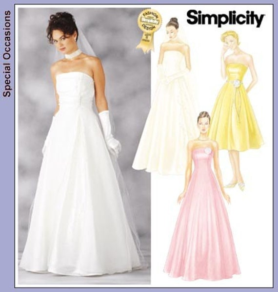 Wedding Gown Dress Patterns: Simplicity Wedding Dress Pattern 7068 Misses' By