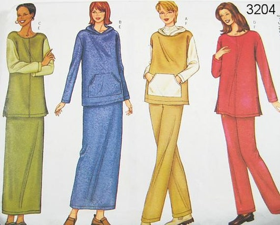 Butterick Sepatates Pattern 3204- Misses' Top, Skirt and Pants - Sz 20/22/24