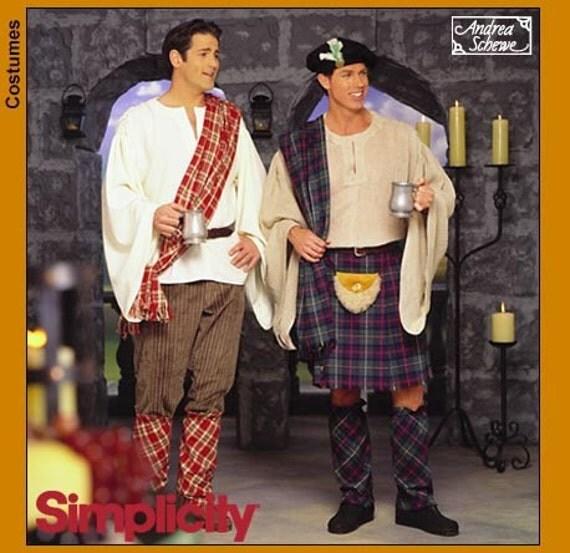 Sz Lg/XLg - Men's Costume Pattern - Simplicity 8913 Men's Celtic Costumes