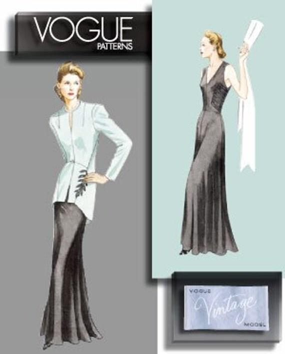 Vogue Retro Dress Pattern V2786 - Vogue Vintage Model 1940 Jacket & Dress - Sz 12/14/16