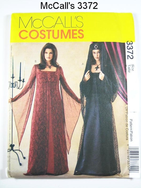 Sz 14 16 18 20 Mccall S Costume Pattern 3372