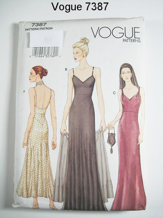 Vogue Dress Pattern 7387 Misses Evening Dress And Stole