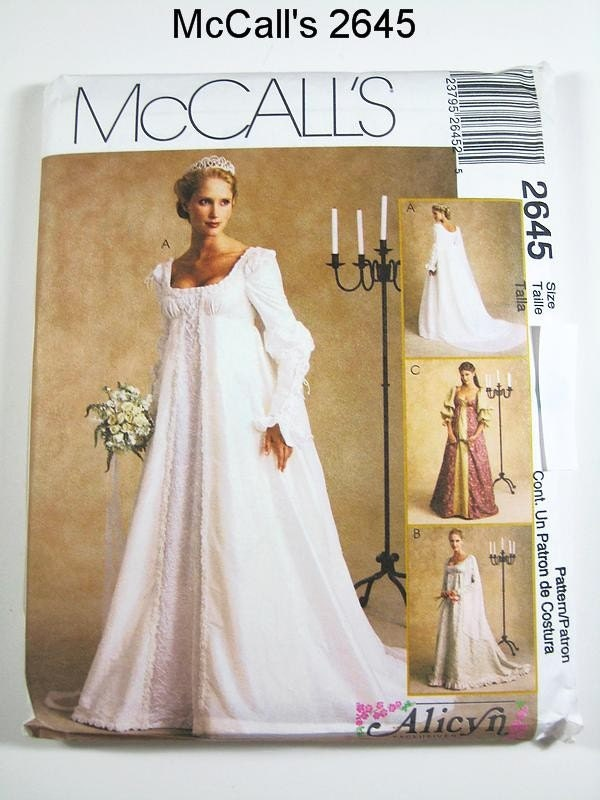 mccall 39 s wedding dress pattern 2645 misses 39