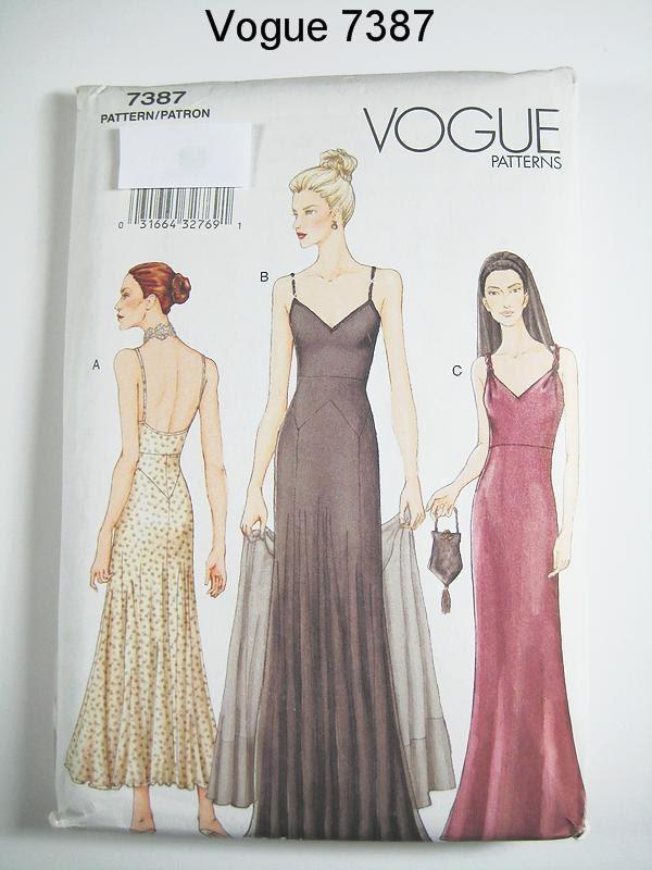 Vogue Dress Pattern 7387 Misses Evening Dress And Stole