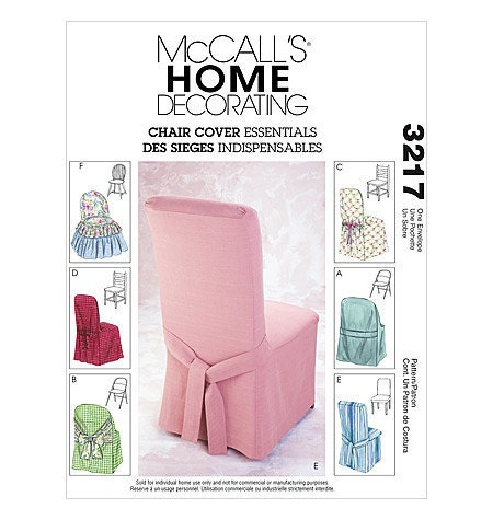 Mccall S Chair Cover Pattern 3217 Covers For Windsor