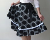 Black full circle wrap skirt