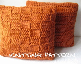 Knitting pattern - super chunky cushion covers