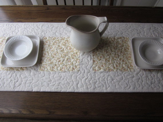Sweet And Simple Welcome Spring Quilted Table Runner 2
