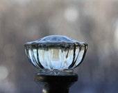 Vintage Glass Crystal Door knobs set Doorknobs two